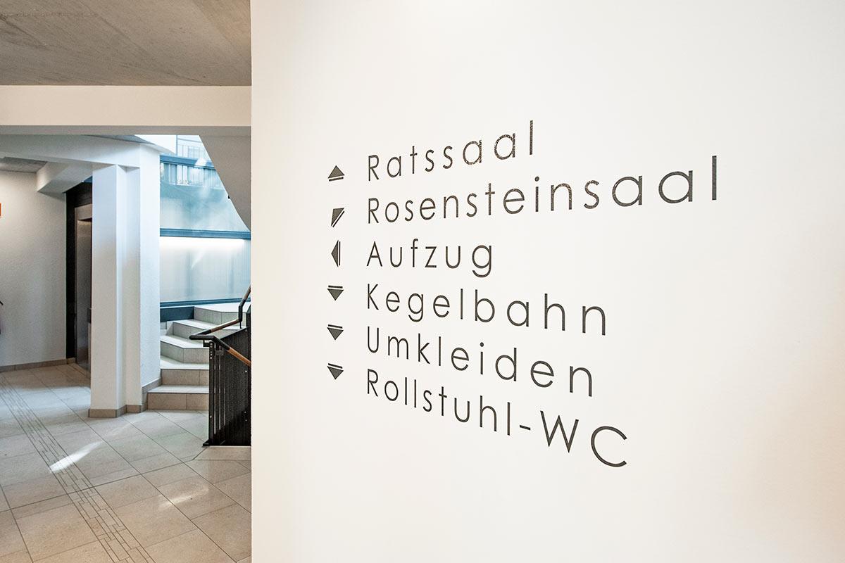 Innenraum - Maler - Beschriftung - Widmann Malerwerkstätten Schwäbisch Hall